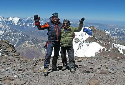 Per Sunnemark on the summit, of Aconcagua, 7summits.com Expeditions
