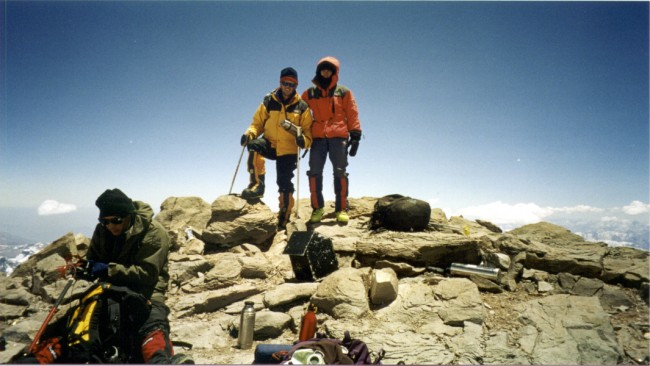 Jonathan and Bart on the summit