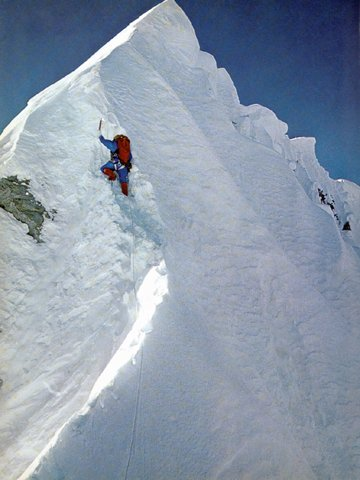 Doug Haston on the Hillary step