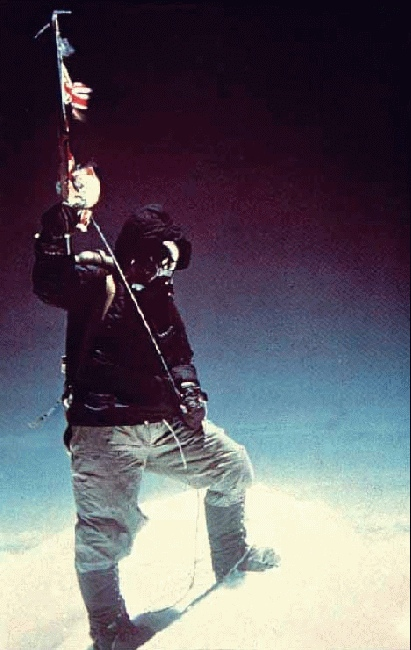 Tenzing on the summit