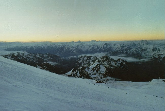 sunrise from elbrus