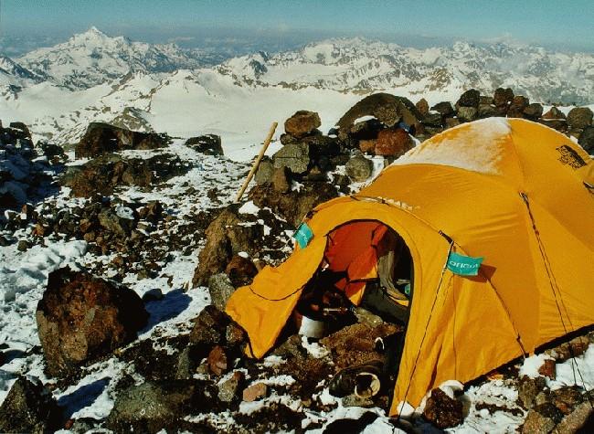 tent @ priut campsite