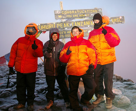 Tony Viera Family on Kilimanjaro summit