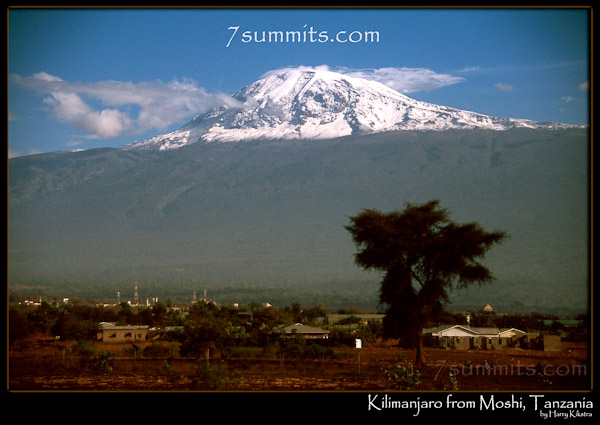 Mighty Kilimanjaro from Moshi, Tanzania, (c) Harry Kikstra, 7summits.com/ExposedPlanet.com